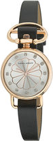 Laura Ashley Womens Black/Rose Gold Heirloom Watch La31001Rg