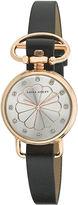Laura Ashley Womens Black/Rose Gold Heirloom Watch La31001Rg