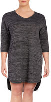 Lord & Taylor Plus Textured Knit Nightshirt