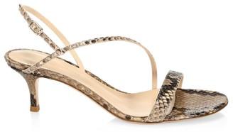 Gianvito Rossi Manhattan Python Slingback Sandals