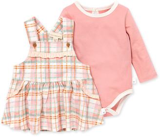 Burt's Bees Cozy Harvest Organic Baby Plaid Dress & Bodysuit Set