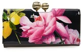 Ted Baker Women's 'Marggo - Citrus Bloom' Printed Leather Matinee Wallet - Black