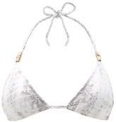 Heidi Klein Core Python-print Triangle Bikini Top - Womens - Python