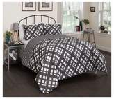 Vue Black & White Geo Reversible Mae Comforter Set