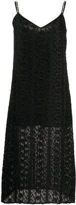 Blumarine embellished strap cami dress