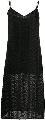 Blumarine Embellished Strap Cami Dress