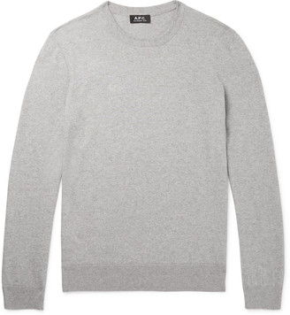 A.P.C. Julien Melange Cotton And Cashmere-Blend Sweater