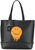 Coach smiley print tote - men - Leather - One Size