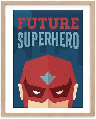 Pottery Barn Kids He's a Future Superhero Wall Art by Minted® 11x14, White
