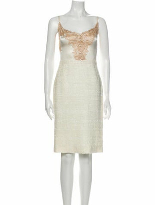 Dolce & Gabbana Square Neckline Knee-Length Dress w/ Tags