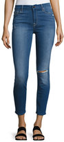 Jen7 by 7 for All Mankind Riche Touch Mediterranean Blue Skinny Ankle Jeans