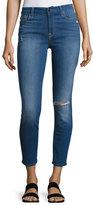 JEN7 Riche Touch Mediterranean Blue Skinny Ankle Jeans