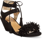 Material Girl Haniya Fringe Wedge Sandals, Created for Macy's