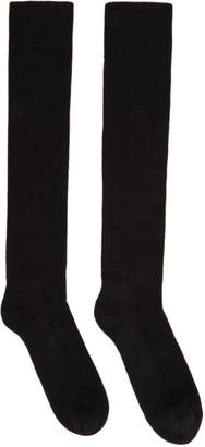 Rick Owens Black Performa FW20 Knee-High Socks