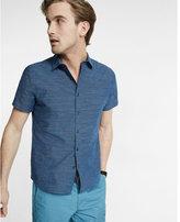 Express Soft Wash Dobby Stripe Short Sleeve Shirt