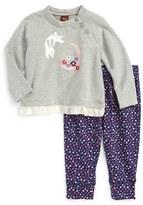 Tea Collection Infant Girl's Moon Rabbit Top & Pants Set