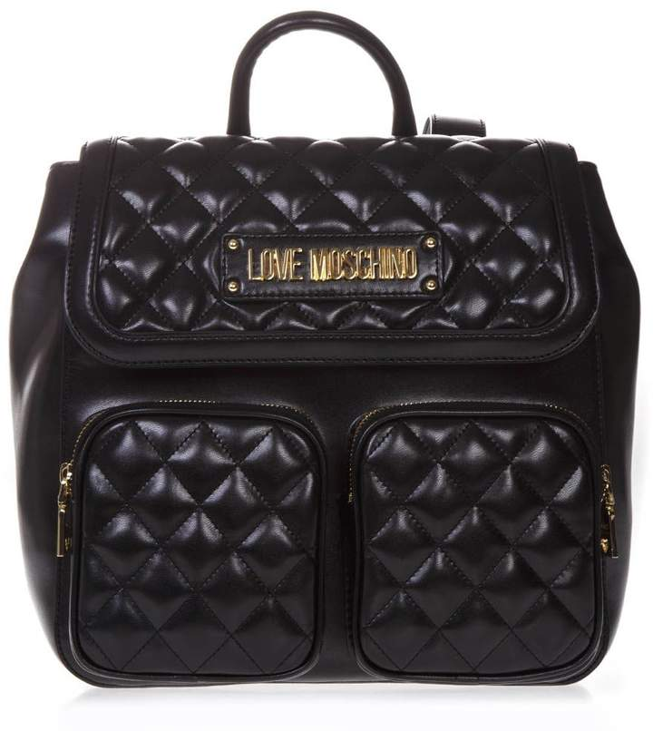 4469a0f726 Love Moschino Black Flap Closure Handbags - ShopStyle
