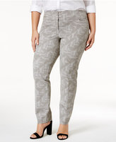 Alfani Plus Size Printed Slim-Leg Pants, Only at Macy's