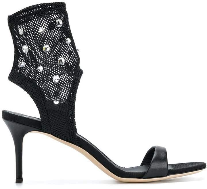 Giuseppe Zanotti Design Mesh crystal sandals