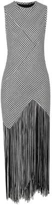 Proenza Schouler Fringed Woven Maxi Dress