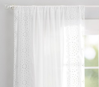Pottery Barn Kids Embroidered Border Sheer Curtain