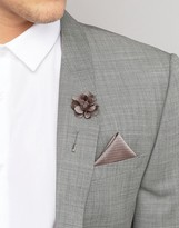 French Connection Pocket Square and Lapel Pin Set