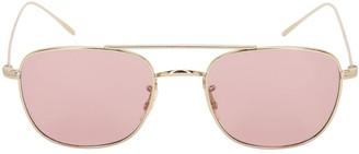 Oliver Peoples Kress Rectangular Metal Sunglasses