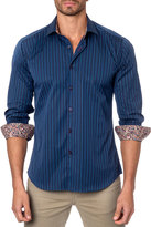 Jared Lang Striped Sport Shirt, Blue