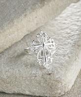 Silver Cross Vera & Co. Women's Rings Silver - Sterling Filigree Ring