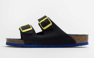 Birkenstock Arizona Black Ultra Blue Sandals - 39 / narrow fit