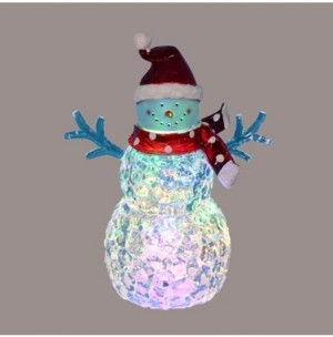 Northlight Battery Operated Led Lighted Snowman with Scarf and Santa Hat