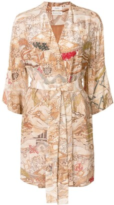 CHUFY Uros embroidered short robe