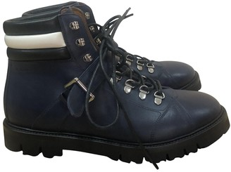 Bally Blue Leather Boots