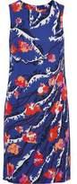 Emilio Pucci Printed Stretch Crepe De Chine Mini Dress