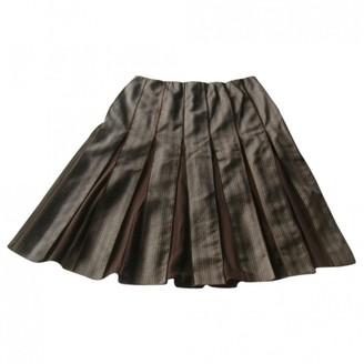 Paule Ka Brown Wool Skirt for Women