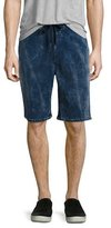 True Religion Decayed Terry Sweat Shorts, Blue