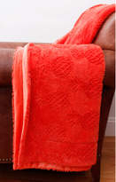 Pier 1 Imports Pattie Pineapple Coral Pink Brushed Faux Fur Throw
