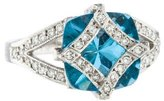 Jude Frances 18K Topaz & Diamond Cocktail Ring