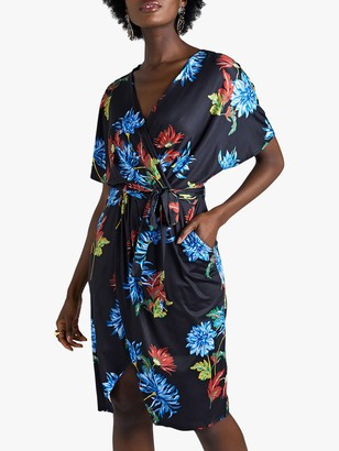 Yumi Dahlia Kimono Dress, Black/Multi