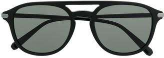 Brioni Monochrome Aviator Sunglasses