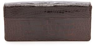 Prada Rachel White Vintage Crocodile Box Clutch