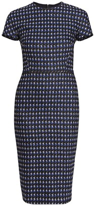 Victoria Beckham Fitted Houndstooth T-Shirt Dress