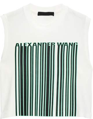 Alexander Wang Cropped Cotton-jersey T-shirt