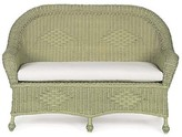 The Well Appointed House Wicker Settee with Cushion in Variety Colors