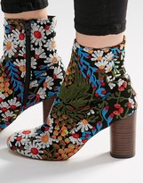 Asos EMILIA Jacquard Ankle Boots