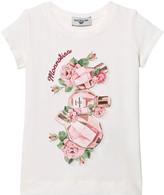 MonnaLisa Off-White Rose and Perfume Print Tee