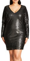 City Chic Plus Size Women's Party Time Embellished Shift Dress