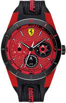 Ferrari Scuderia Men's RedRev T Black Silicone Strap Watch 44mm 830255
