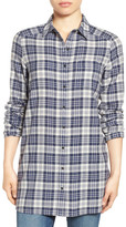 Caslon R) Plaid Tunic Shirt