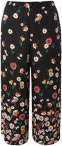 Dorothy Perkins Black and Rust Floral cropped Trousers